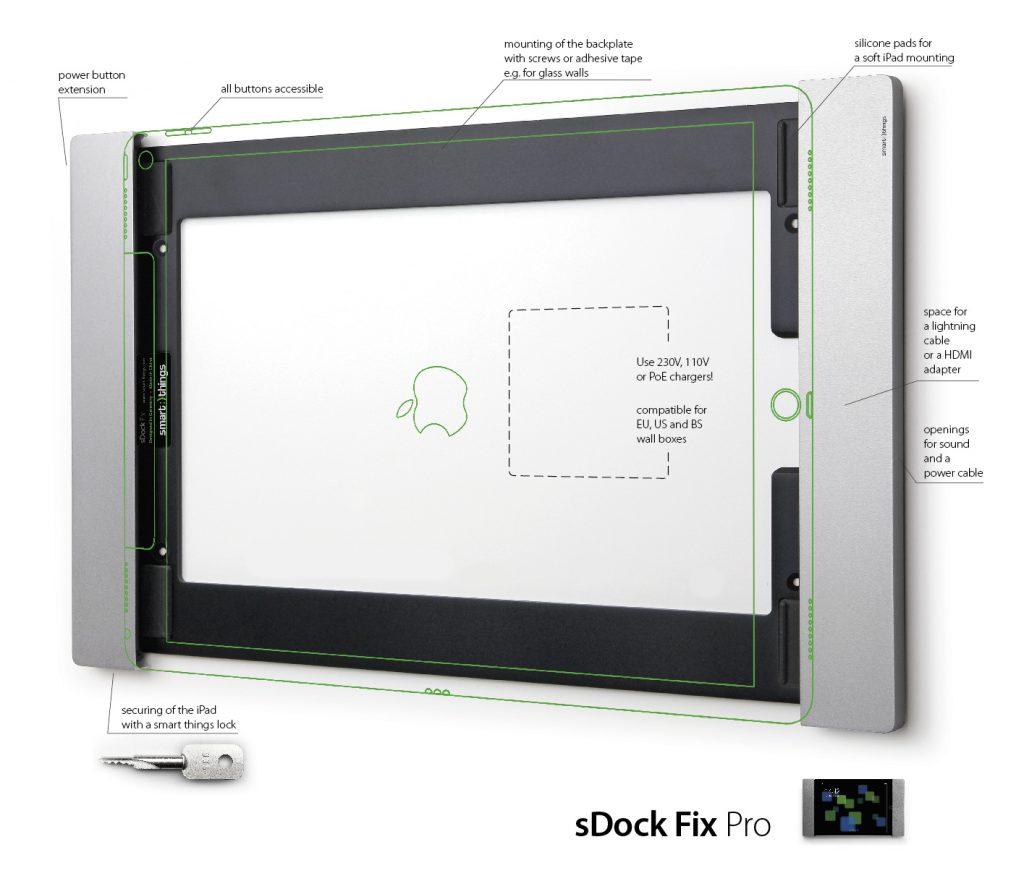 sDock Fix Pro s13— фиксированное настенное крепление для Apple iPad Pro 12.9